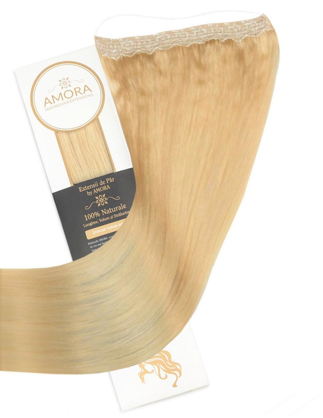 Imagine Extensii Flip In Lux Blond Deschis Auriu 22