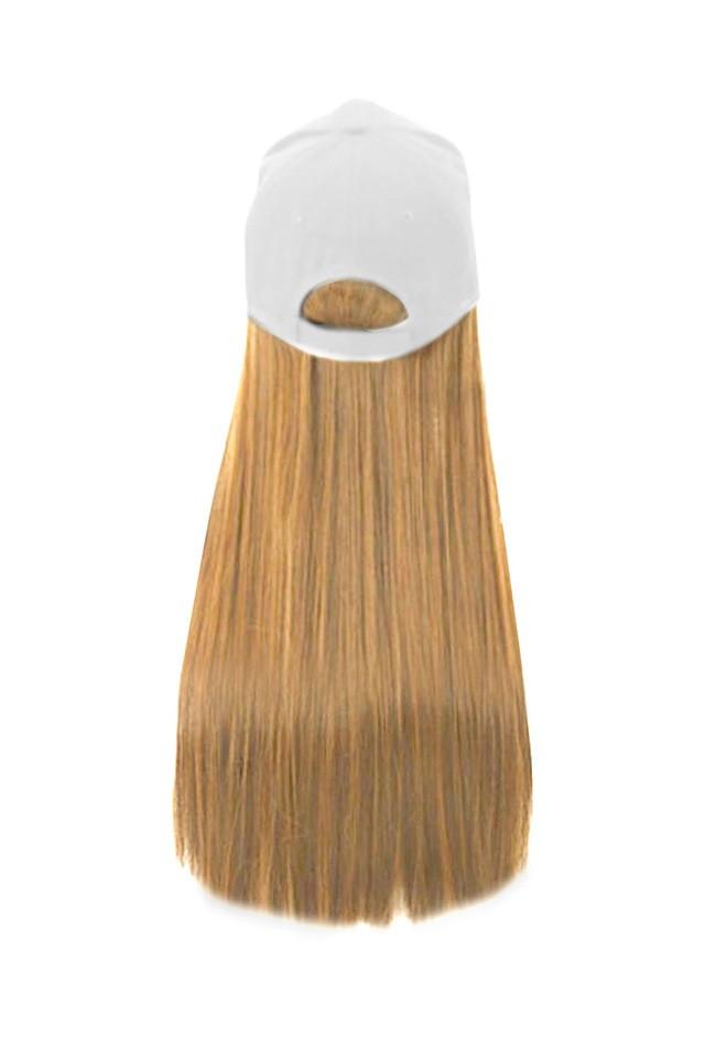 Imagine Sapca Cu Tresa Atasata Blond Inchis 27