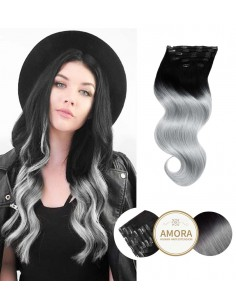 Extensii Clip On CLASSIC LINE Ombre 1/Gray