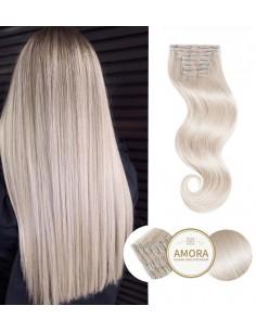 Extensii Clip ON  BRILLIANT Blond Cenusiu PLA