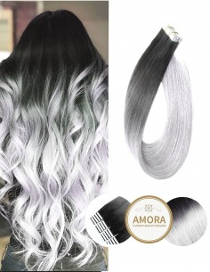 Extensii Tape In BRILLIANT Ombre 1/Gray