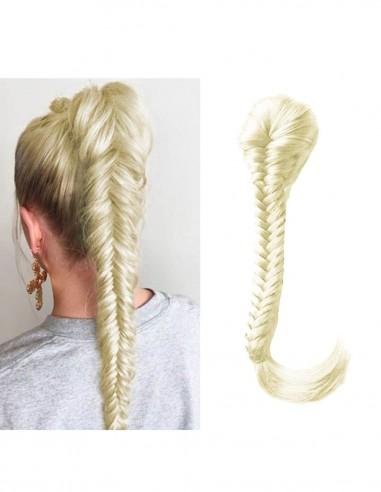 Accesoriu Coada Blonda Impletita Spic