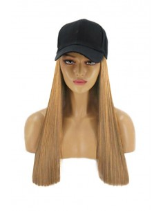 Sapca cu Tresa Atasata Blond Inchis 27