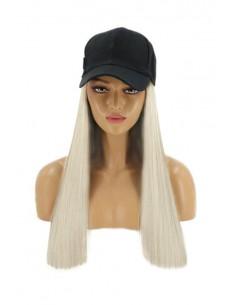 Sapca cu Tresa Atasata Blond Rece Perlat 60