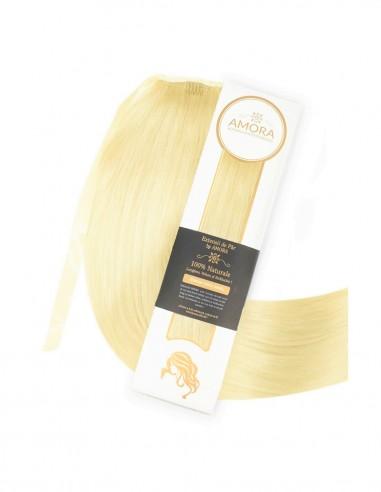 Extensii Coada De Lux Blond Deschis Auriu 22