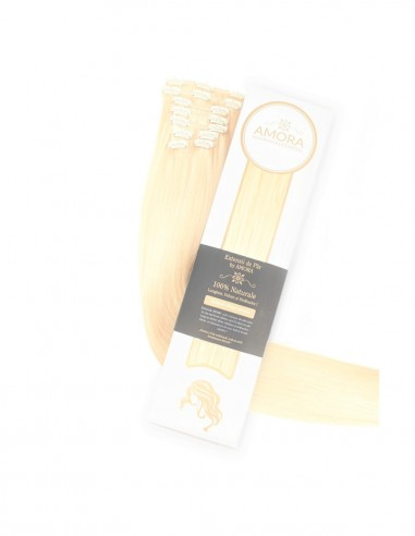 Extensii Clip On Amora Blond Deschis Auriu 22