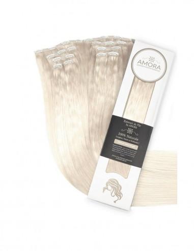 Extensii Clip On Platinum Blond Cenusiu PLA