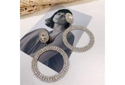 Cercei cristale JAZIRA Silver