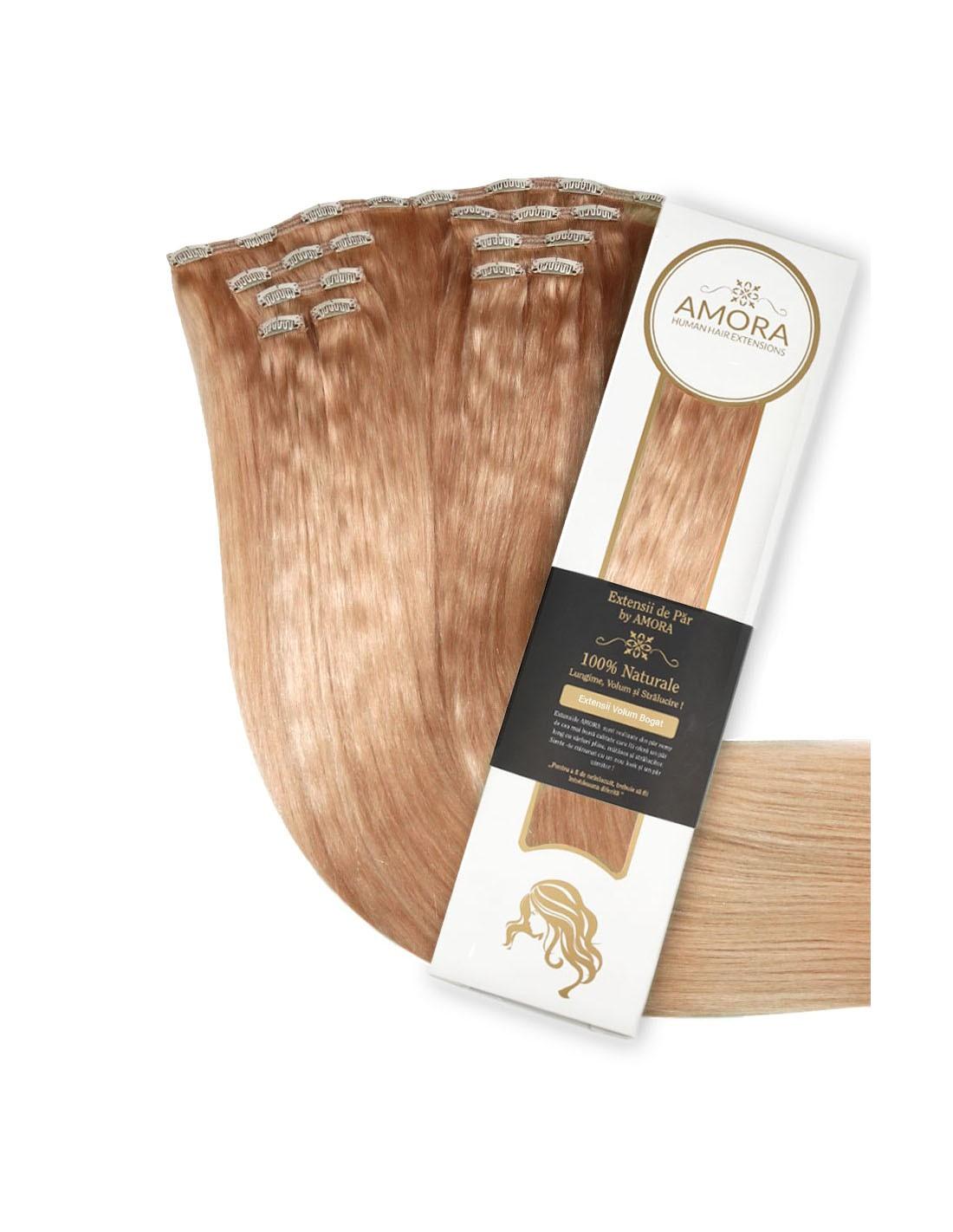 Extensii Clip On Platinum Blond Inchis 27 55 cm 27 - Blond Inchis